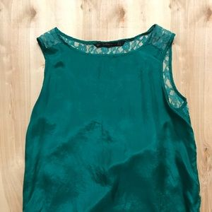 Zara Emerald Green Lace Top Size Small